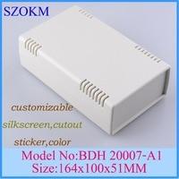 Diy Electronic Instrument Quality Plastic Enclosure Desktop Electric Meter Panel Plastic Enclosure For Electronics 164X100X51mm
