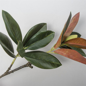 Image 5 - Flone 2 rama Magnolia artificial de ramo de simulación Real Touch Magnolia de planta de flor boda fiesta en casa decoración Floral