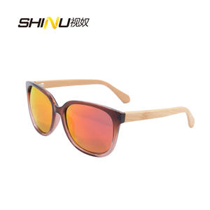 Bamboo Sunglasses Wooden Lens Retro Vintage Women UV400 HY568 Frame Products Handmade