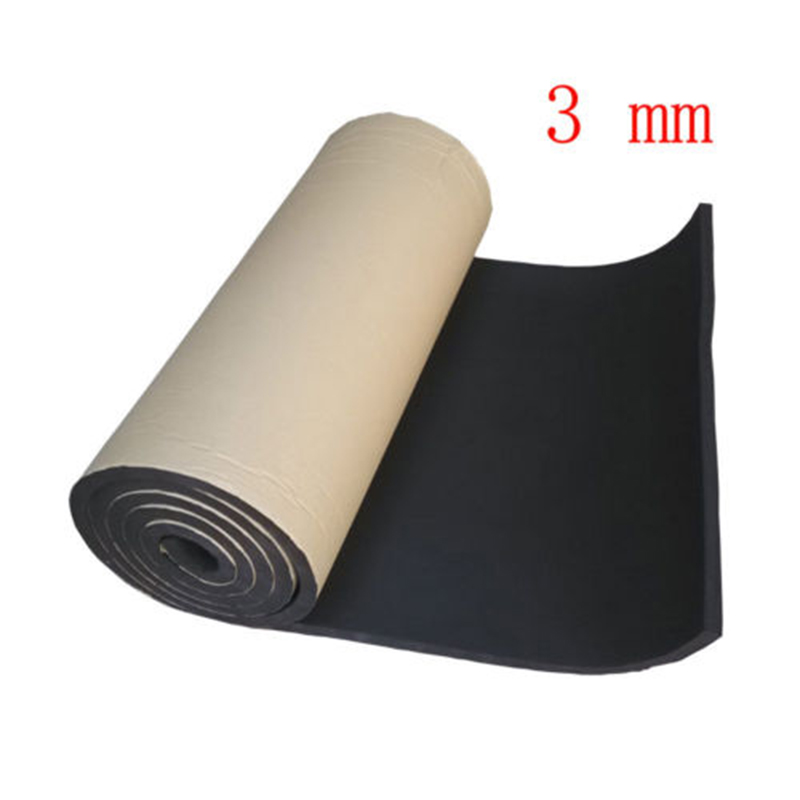 1 Roll 3mm 5mm 8mm Car Acoustic Foam Rubber Sound Insulation Mat Car Speakers Soundproofing Vibration Isolation 50x100cm
