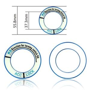 Image 5 - Copertura dellinterruttore di accensione per Auto in lega luminosa accessori per Auto adesivi per Auto cerchio decorazione leggera per motore TOYOTA COROLLA LEVIN