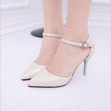 Big Size 34-45  New Fashion high heels women pumps thin heel classic white red nede beige sexy prom wedding shoes