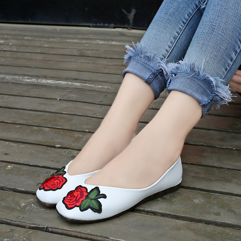 Flat shoes 2017 spring and summer new shallow mouth square shoes rose women fashion big size flat with the work shoes  a21 big size 2016 spring fashion pointed shoes women flat shallow mouth candy colored women s shoes size foreign trade
