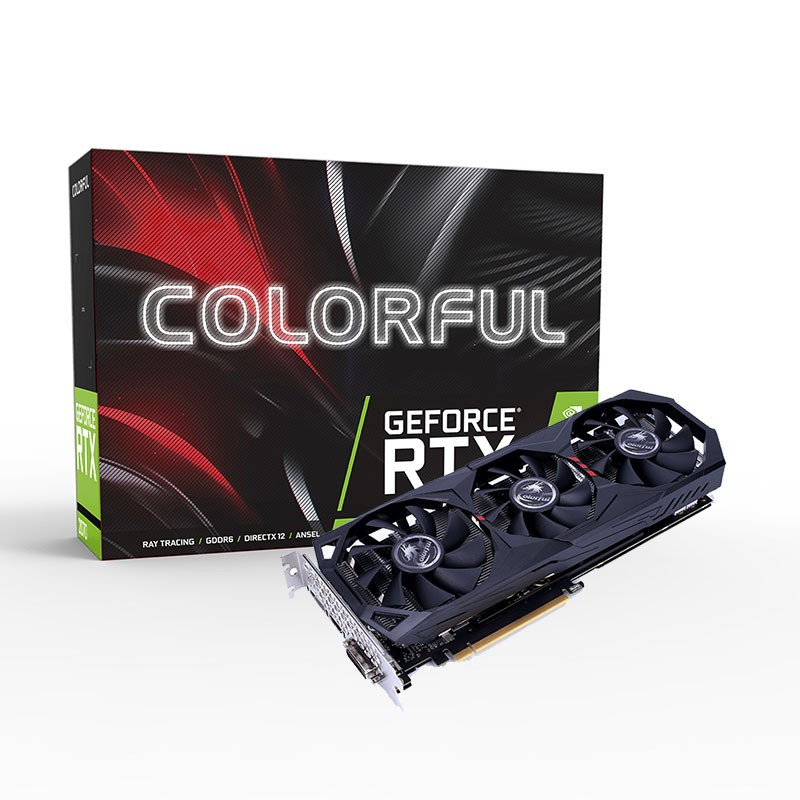 Colorful RTX 2060 Gaming ES Graphics Card GDDR6 Nvidia GPU 6G 192Bit 1365-1680MHz HDMI iGame Video Card For PC Gaming image