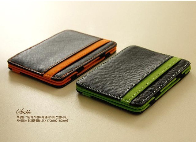 perfect tracking slim male magic wallet leather purse men small