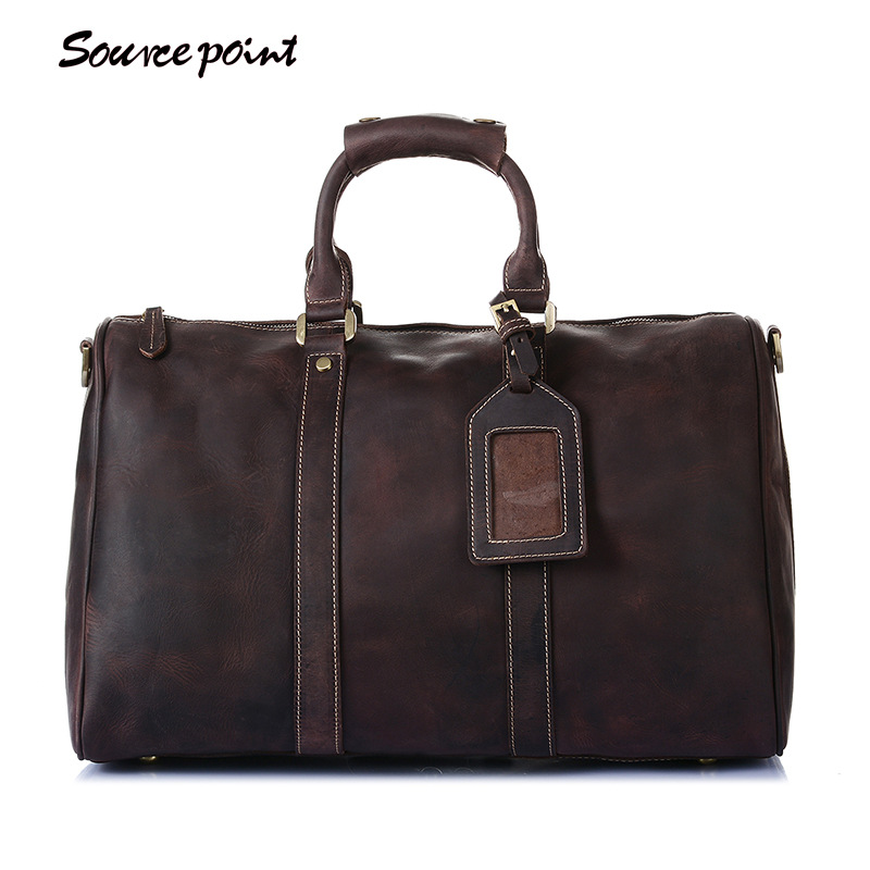 YISHEN Retro Men's Large Capacity Travel Bags Crazy Horse Leather Shoulder Bag European And American Style Male Handbags YD-8016 все цены