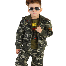 Suit Scouting Military Boys Cotton Trousers-Set Camouflage-Suit Wild-Adventure-Jacket