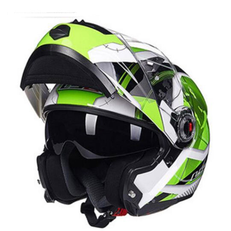 2018 Winter New ECE Certification FF370 Flip Up Double lens Motorcycle Helmet open face Motorbike Helmet of ABS size L XL XXL new tanked motorcycle full helmet double lens knight racing motorbike helmet safety caps ece certificate size l xl xxl