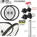 Тайвань Powerway CT31 дисковый тормоз Центральный замок 700c гравий колеса велосипеда Углеродные комплект колес для велокросса Sapim CX луч спицы