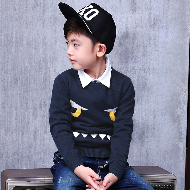 Pioneer Kids Autumn\Winter Children Clothing Cotton Casual Big Boys Sweaters Kids O-Neck Pullover Clothes winter Boys Top