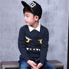 Pioneer Kids AutumnWinter Children Clothing Cotton Casual Big Boys Sweaters Kids O-Neck Pullover Clothes winter Boys Top