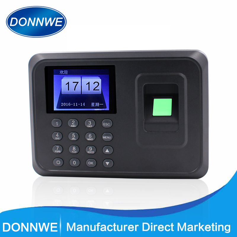 HOT SALE Donnwe F01 Biometric Fingerprint Time Recorder Time Clock(China)