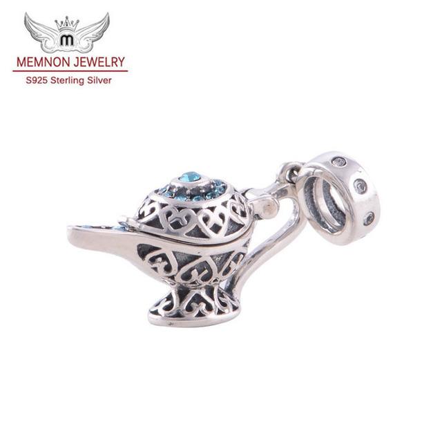 Aladino de la lámpara del encanto genuino 925 plata esterlina Fit europeos pulseras brazaletes venta al por mayor Memnon joyería YZ029
