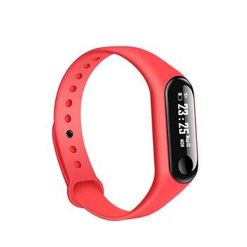 682d128bfd4c Pulsera inteligente M3 pulsera rastreador de actividad Frecuencia Cardíaca  mensajes de presión ...