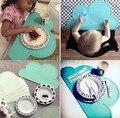 Moda Silicone Bebê Fedding Crianças talheres Louça de porcelana Pratos de Jantar Coasters esteiras Otário sólida Nuvem Placemat almofada Anti-derrapante