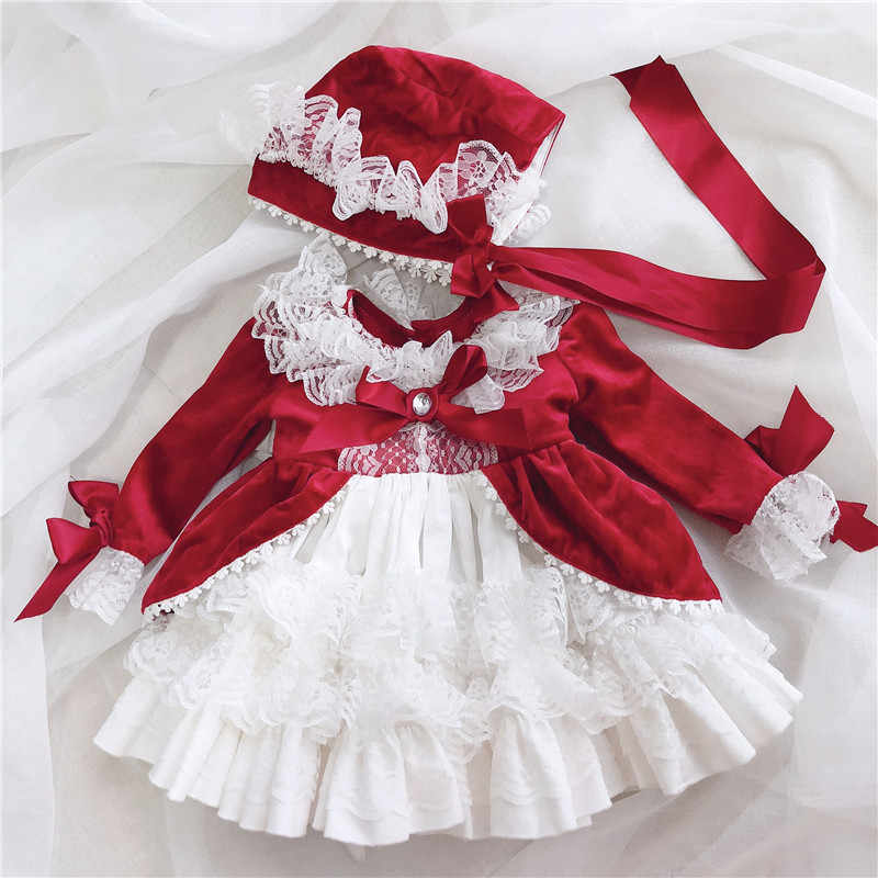 23eb4ab49 ... Cekcya Spain Dress Girls Royal Costumes Kids Princess Wedding Birthday  Dresses Party Lace Robe Fille Baby ...