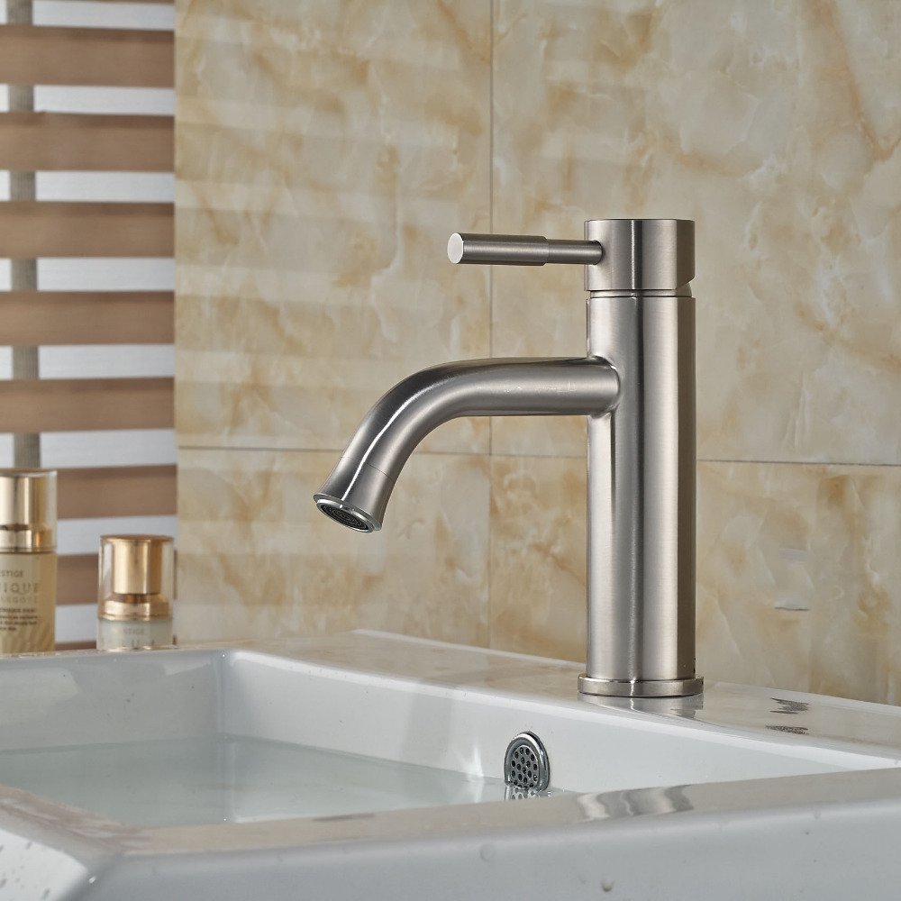 Newly Modern Brushed Nickle Basin Tap Bathroom Vessel Sink Tap Deck Mounted Swivel Spout Tap ps50 30dp ps50 30dn new and original autonics proximity sensor 12 24vdc