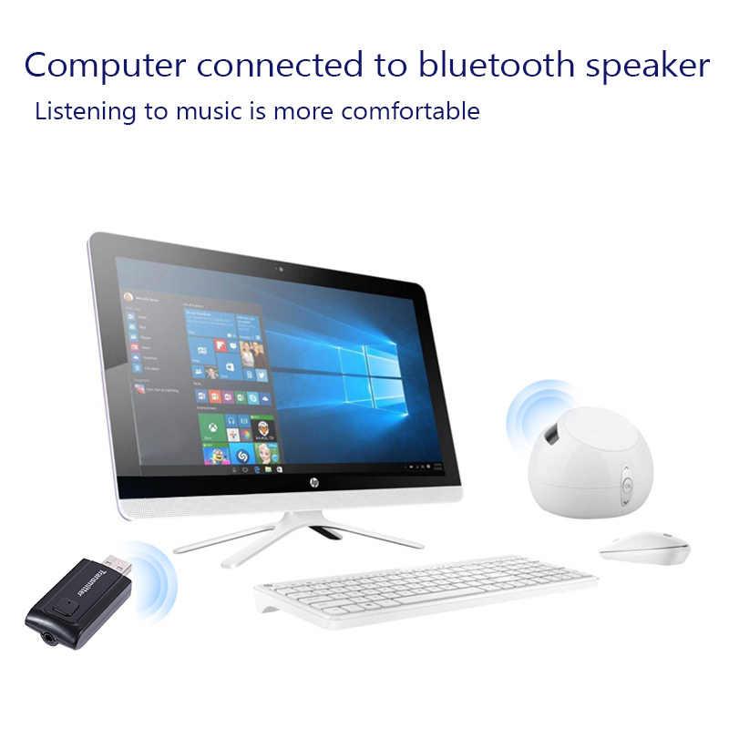 Rovtop USB Wireless Bluetooth V4.2 Transmitter Audio Music Stereo Adapter Dongle Receiver for TV PC Speaker Headphone