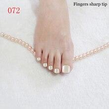 24 pcs/set Ivory white Acrylic False Nail Candy colors Short Toenails, Ms nail supplies 072