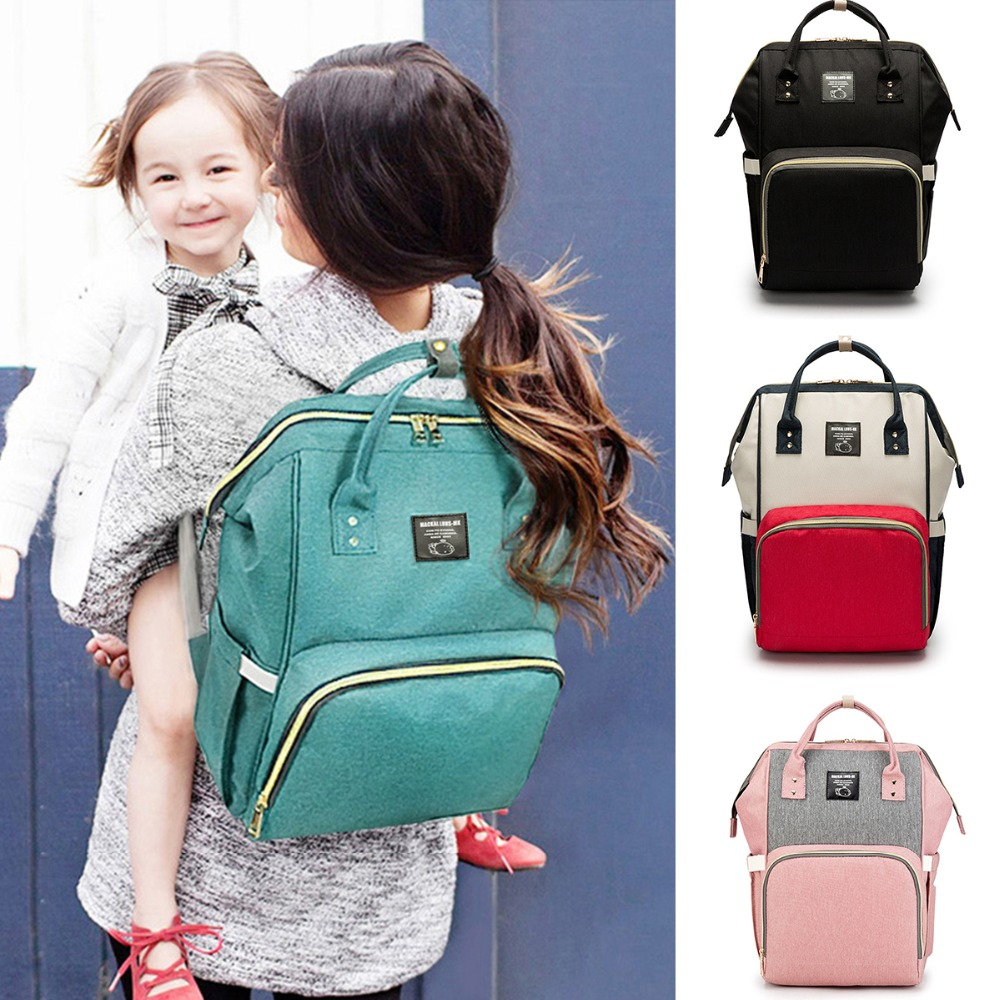 2018 Fashion Mummy Maternity Nappy Backpack Bag Large Capacity Mom Baby Multifunction Outdoor Travel Diaper Bags For Baby Care disney mummy bag baby care nappy backpack bag large capacity mom baby multifunction outdoor travel diaper bags red mickey