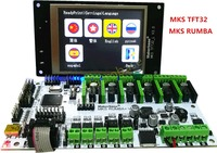 3D Printer Motherboard MKS Rumba MKS TFT32 V3 0 Display LCD All In One Board Controller