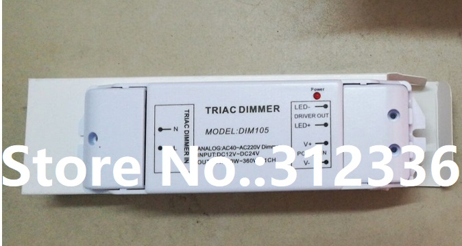 Free Shipping Power Supply DIM105 180W 360W dimming dimmable Triac Dimmer LED driver Single Switch Reliability Miniature free shipping triac 220v dimmable driver triac dimming led controller 1 channel 75w dm9123h t series
