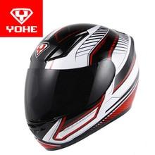 2017 новый yohe анфас шлем мотоцикла мотоцикл гонки шлемы, изготовленные из АБС и ПК Объектив/козырек Модель YH-991 размер Ml XL XXL