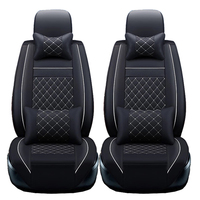2 Pcs Front PU Leather Car Seat Covers For Dodge Caliber 2012 2008 Avenger Ram 2500