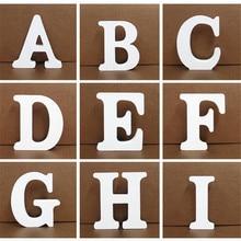 1 ud. De 10 cm x 10 cm, letras blancas de madera, alfabeto inglés, DIY, diseño de nombre personalizado, arte de pie, corazón, decoración para el hogar, boda