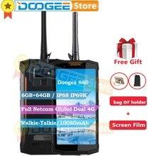 Doogee S80 6 GB 64 GB Küresel Çift 4G Walkie-Talkie Sağlam Telefon Android 8.1 5.99