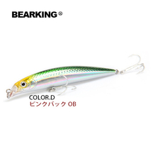 2017 Hot model bearking Retail fishing lures, floating minnow,penceil bait size 90mm 10g,magnet inside,dive 0.5m