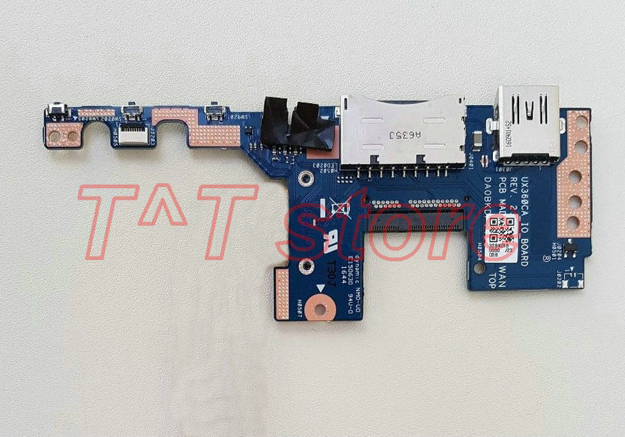 original for UX360CA USB Card Reader Power Button Board UX360CA_IO_BOARD test good free shipping emcp221 usb test aging test board emcp fbga221 programmer adapter reader test socket size 14 18 development board free shipping