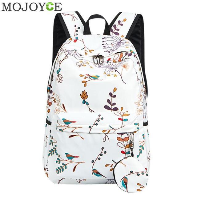 2018 Women Backpack Korean Fashion Casual Travel Printing Backpack School  Bags For Teenagers Waterproof Nylon Girl s Backpack c857383386723