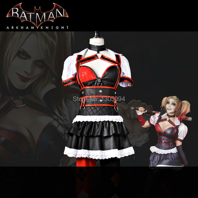 e108635c3f236 US $89.99 |Harley Quinn Costume Cosplay Batman Arkham Knight Costume Fancy  Dress Christmas Game Outfit Sexy Clown Suit Adult Women Any Size-in Movie &  ...
