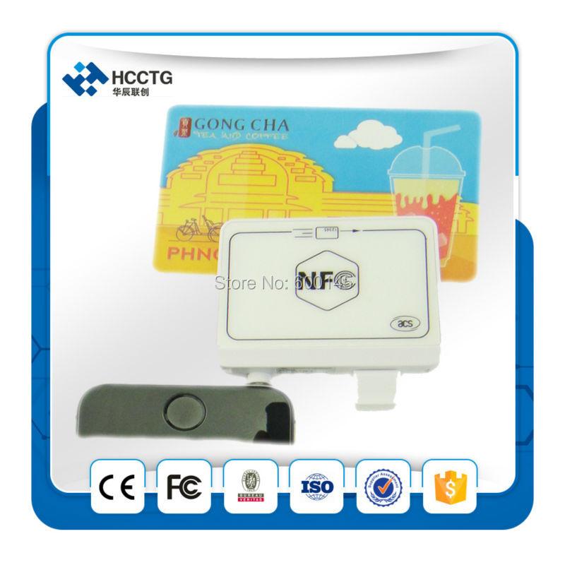 ACS portátil 13.56 MHz RFID 35mm audio Jack NFC MPOs Mobile mate lector para iOS Android Mobile Bank Y PAGO envío SDK--ACR35 - 6