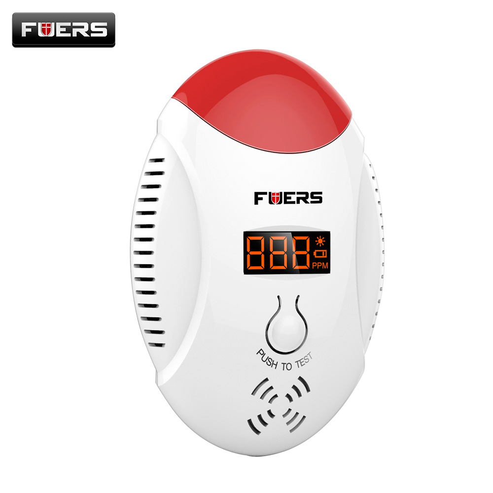New model LED digital display CO detector voice strobe home security safety CO detector Alarm Battery golden security lpg detector wireless digital led display combustible gas detector for home alarm system