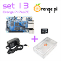 Orange Pi Plus 2E SET13: Plus 2E + Power Supply +Transparent Acrylic  Case +16GB Class SD Card for Orange Pi  Beyond Raspberry