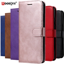 Flip Case For Samsung A40 A90 A80 A10E Leather Phone Case For Samsung Galaxy A40 A405F A10 A20 A30 A50 A70 A60 A20E Capa Case tanie tanio WOODLYSI Luxury PU Leather Wallet Case Kickstand Adsorption Anti-knock Huawei cute Plain vintage Business With Card Slots Stand Function Magnetic Buckle