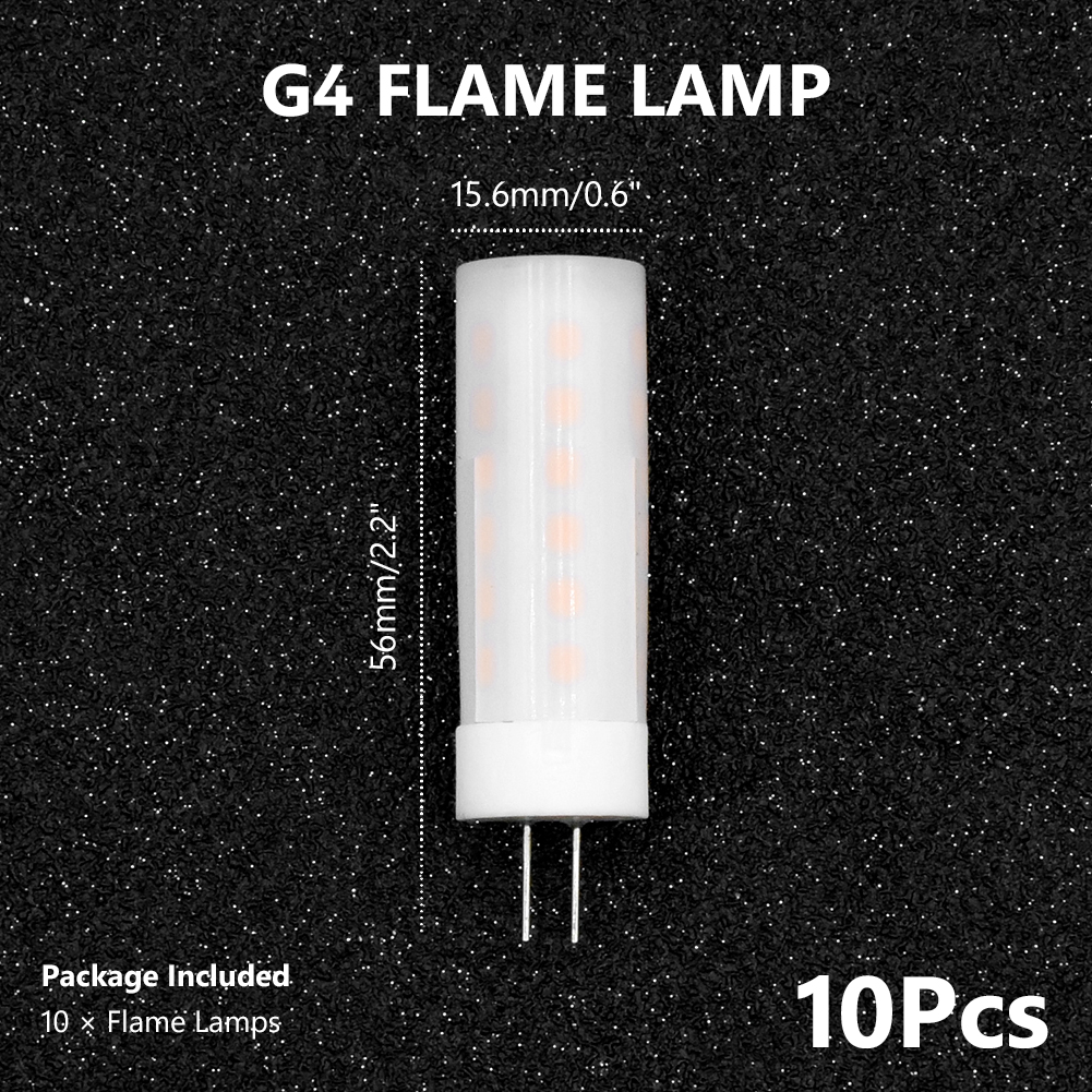 G4 Dynamic Flame Effect LED Corn light Bulb Lamp AC DC 12V Simulation Fire Burning Flicker Replace Gas holiday Decoration lamps