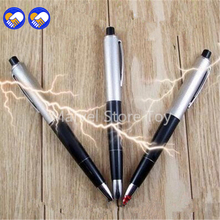 A toy A dream for beauty tool 5PCS Electric Shock Pen Gag Funny Ballpoint Working Gift Prank Joke Shocker Toys free shipping