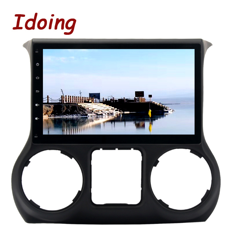 Idoing 1Din 8 Core 4GB+32GB 10.2For Jeep Wrangler2015/2016 Steering Wheel Car Android 8.0 GPS Player GPS Navigation Fast Boot
