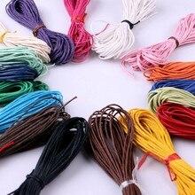 10 метров, 1,5 мм, вощеная кожа, нить, воск, хлопок, шнур, ремешок, ожерелье, веревка, бусина для браслета шамбалла, 17 цветов на выбор