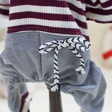Puppy Dog Clothes Pet Dog Striped Clothing