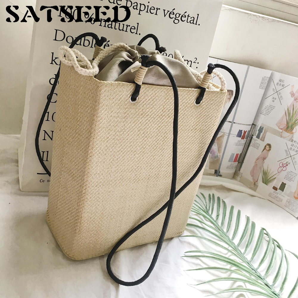 The New Summer All-match Retro Beach Leisure Bag Straw All-match Party Shoulder Bag Three Bags In Color 2016 summer mix color cloth art shoulder woman bag leisure packages exclusively for export national bag