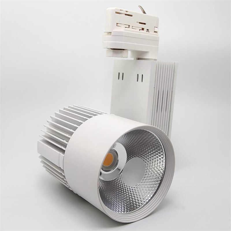 Gratis Pengiriman 35W COB LED Track Light 2 Kabel 3 Kabel 4 Kabel Rel Rel Lampu Sorot untuk Pakaian Sepatu toko Toko Komersial Lampu