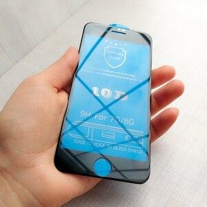 Image 2 - 10D Full coverage iPhone 6 용 보호 유리 6S 7 8 plus X XR XS iphone 용 최대 유리 7 8 6 6S X XR XS MAX 화면 보호기