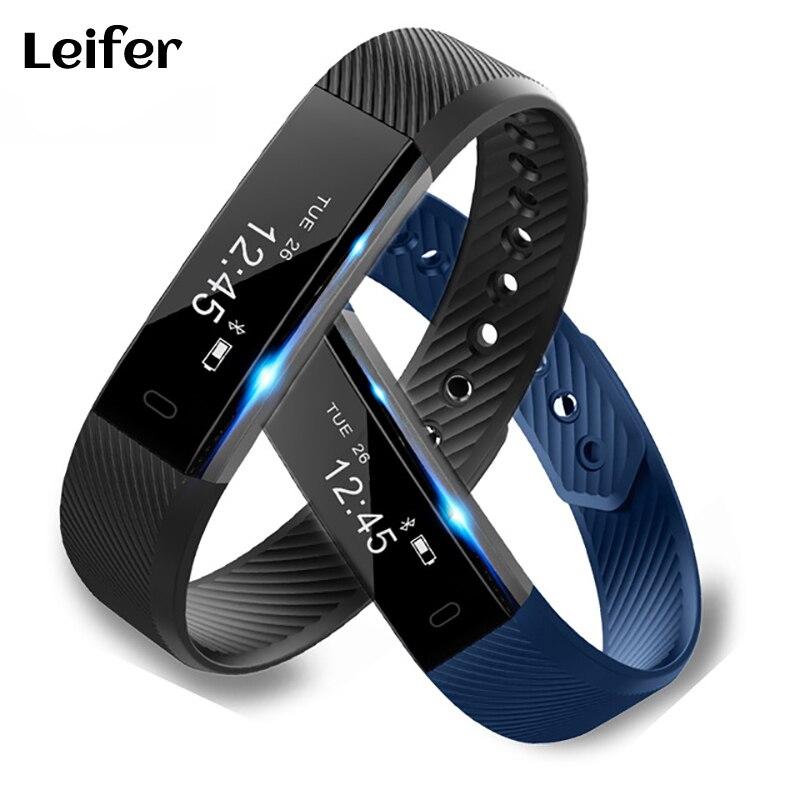 Free Ship ID115HR Smart Bracelet Fitness Tracker Sleep Monitor Track Heart Rate Bracelet Bluetooth Sport Smart