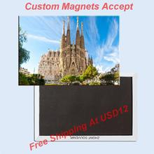 Free Shipping Home Decor Stickers,Sagrada Familia Cathedral Bacelona Magnet 5709 Souvnirs GIft