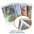 Профессиональный блокнот  бумага для рисования 30x42 A3  чертежная бумага  40 листов  канцелярские и школьные принадлежности  живопись ASS045