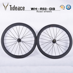 OEM hamulec tarczowy węgla koła rowerowe 23mm 50mm koła rowerowe pełna klin węglowy koła rowerowe 50mm 700C szosowy zestaw kół rowerowych